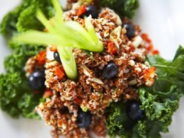 Red Quinoa Summer Salad