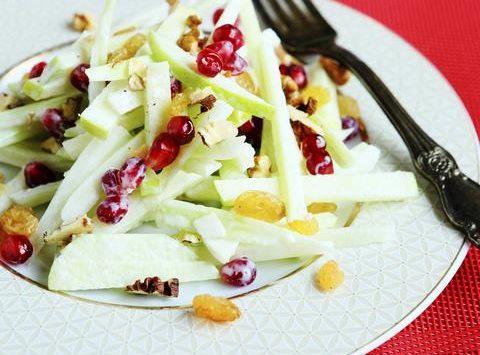 Pomegranate Apple Cabbage Salad